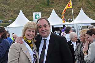 Alec Salmond with Maggie