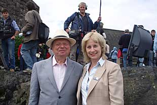 Maggie filming with TV Presenter John Sergeant